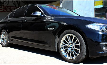 宝马525豪华版轮毂改电镀白