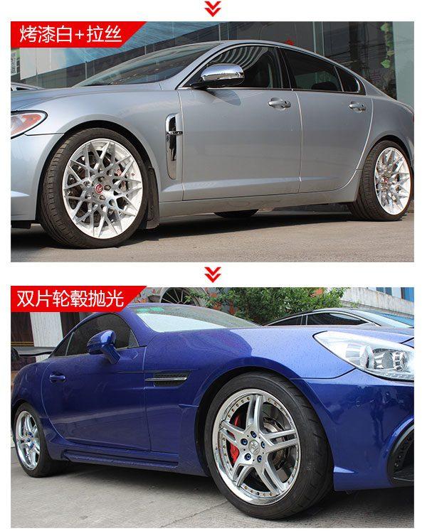 双片式锻造轮毂翻新改色