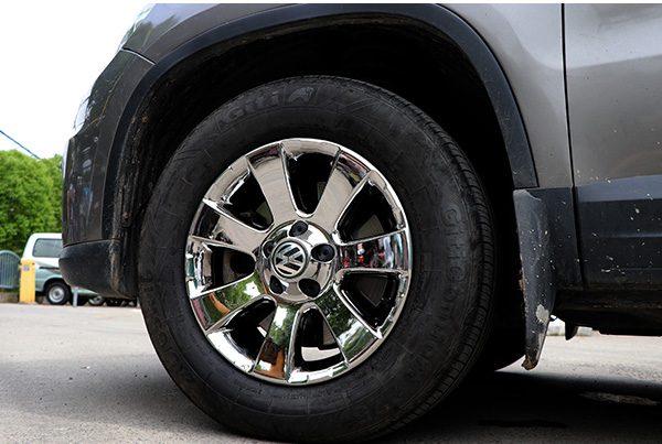 大众途观拉丝轮毂腐蚀氧化修复改电镀白